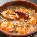 料理メニュー写真小エビのアヒージョ(ガーリックオイル煮)