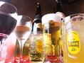 各種豊富な飲み放題☆生/焼酎/日本酒など