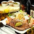 料理メニュー写真メキシカンステーキプレート(サラダ付)