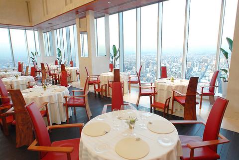 ミッドランドスクエア42Fから名古屋のを眺め最高級のイタリア料理を楽しむ