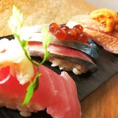 料理メニュー写真おまかせ握り寿司 3貫盛り(カツオ・アイナメ・アジ)