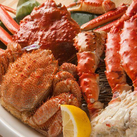 【豪華爛漫コース】タラバ蟹とズワイ蟹盛り合わせ付き2時間飲み放題8000円(全9品)