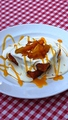 料理メニュー写真マンゴー&ココナッツのクリームワッフル