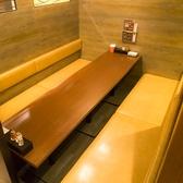 こちら掘りごたつ個室です!!足を伸ばして座れる掘りごたつ個室席は8名様までご利用可能。落ち着きのある店内でゆったりとご宴会をお愉しみください。