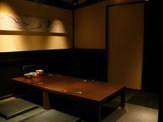 2F,最大6名様までのお部屋です。お座敷個室は最大24名様までご案内可能でございます。