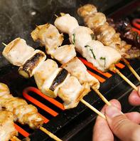 ジューシーな国産鶏をじっくり焼き上げた自慢の串焼き!
