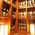 数多くの日本酒がズラリ