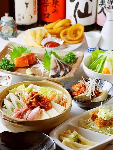 八戸駅1分!390円で食べて飲める店♪選べる4種の鍋&飲み放題付きコースが3500円!