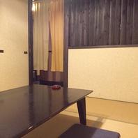 適度にプライベートな空間が保てる半個室のお座敷。