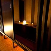 プライベートな空間を演出する個室席。
