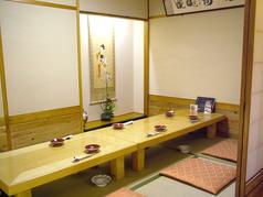 個室は接待利用にも人気のお部屋です。飲み放題もご用意しております。