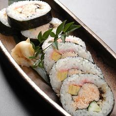 料理メニュー写真かに太巻寿司
