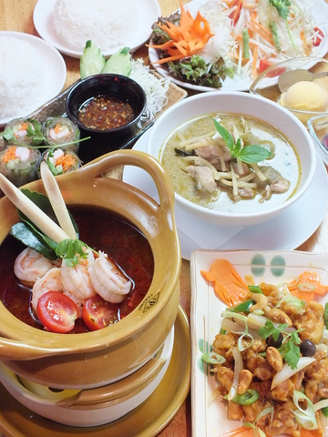 タイ人シェフの本格料理と落ち着く空間で絶品タイ料理をお手頃価格で!
