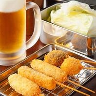 通天閣でビールと串カツ!飲み放題コースは980円~!