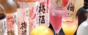 梅酒・果実酒・カクテルの種類が豊富なお店