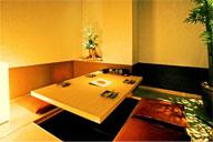 くつろぎの掘りごたつ式個室のイメージ画像
