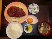 海鮮居酒屋 いわ舟のソースカツ定(皿盛・丼ぶり)の写真