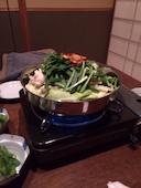一慶 西中洲店の炙りもつ鍋 しょうゆ味orみそ味の写真