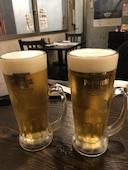 やきとり 門傳の生ビールの写真