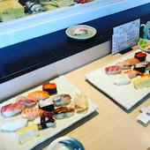 寿司田 セレオ八王子店の鯛・はまち・やりいか・甘えび・さより・穴子・うなぎ・さば・活たこ・あじ・かつおの写真