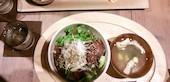 瓦 ダイニング kawara CAFE&DINING 横須賀モアーズ店の牛ハラミのステーキ丼の写真