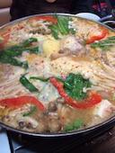 韓国居酒屋 明洞 高松の美肌コラーゲン鍋の写真