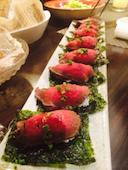 shigi31の和牛の手巻き寿司の写真