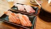 元祖ぶっちぎり寿司 魚心 三宮店のとろサーモンの写真