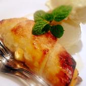 セルドヤパト Cerdo y patoのバニラアイスとラムレーズンのクロワッサンの写真