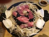 ジンギスカン ゆきだるま 中野部屋のジンギスカン一人前セット(肉/野菜)の写真