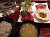 秋田牛玄亭の焼き肉定食の写真