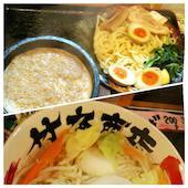 竹本商店 つけ麺開拓舎の濃厚豚骨伊勢海老つけ麺 どっさり野菜の写真