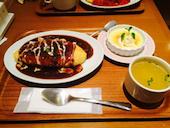 陽だまり食堂の当店人気NO1!! 陽だまり風オムハヤシの写真