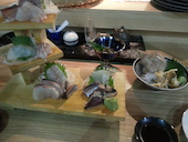 居酒屋 あらた すすきのの漁師町の刺身三段盛 1人前の写真