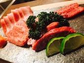 神戸焼肉 かんてき 渋谷の本日のおすすめ極上肉盛り (塩・タレ5種・ホルモン全盛)の写真