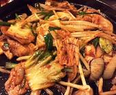 和や 唐戸店の豚キムチ鉄板焼の写真