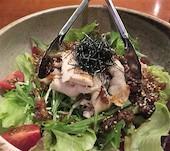 八風 福岡のとりのしゃぶしゃぶサラダの写真