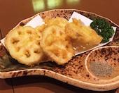 竹家 小倉の佐賀レンコンの天ぷら/若鶏の唐揚げの写真