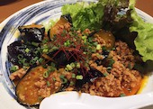竹家 小倉の秋ナスの肉味噌がけの写真