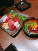 いろりや IRORIYA 熊本 下通り/銀座通り店の桜馬刺し盛り合わせの写真