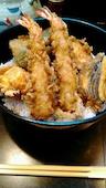 天ぷら浜新のえび天丼の写真